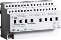 104600 Реле GIRA instabus knx-eib серияKNX/EIB, 8-канальное, с ручным управлением, для емкостной нагрузки, с функцией замера тока