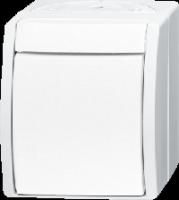 1085-0-1632 (1085-0-1628) BJE Ocean Альпийский белый Переключатель 1-клавишный накладной IP44