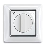 1101-0-0920 (2713 UCDR-94) BJB Basic 55 Бел Выключатель жалюзийный поворотный с фиксацией