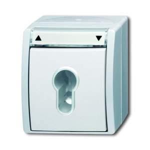 1101-0-0925 BJE Ocean Альпийский Белый Выключатель жалюзи с ключом (для замка) 1-полюсный, IP44
