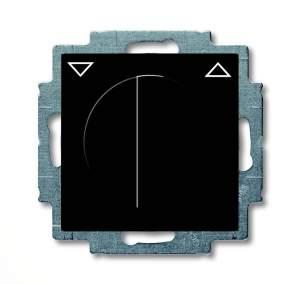 1101-0-0928 (2713 UCDR-95) BJB Basic 55 Шато (чёрн) Выключатель жалюзийный поворотный с фиксацией