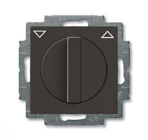 1101-0-0929 (2723 UCDR-95) BJB Basic 55 Шато (чёрн) Выключатель жалюзийный поворотный без фиксации