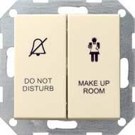 110401 Двухклавишный выключатель в сборе для управления индикатором состояния номера в гостинице