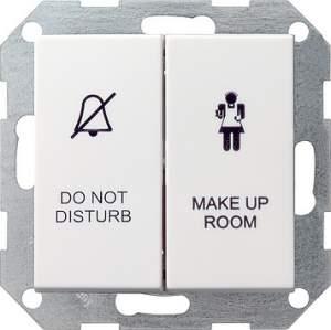 110427 Двухклавишный выключатель в сборе для управления индикатором состояния номера в гостинице