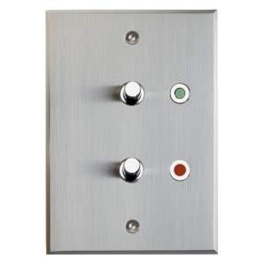 115х80 мм 2 кнопки с индикаторами Никель шлифованный