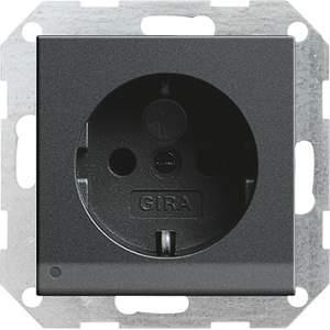117028 Розетка с з/к и светодиодной подсветкой