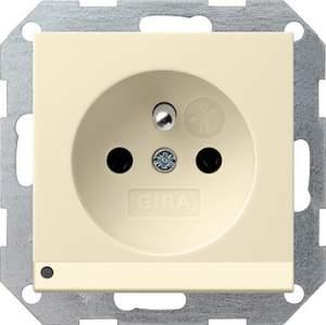 117201 Розетка с зазем штыр защ от дет LED подс