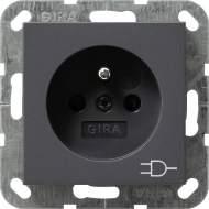 1172203 Розетка с зазем штыр защ от дет LED подс