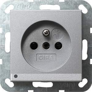 117226 Розетка с зазем штыр защ от дет LED подс