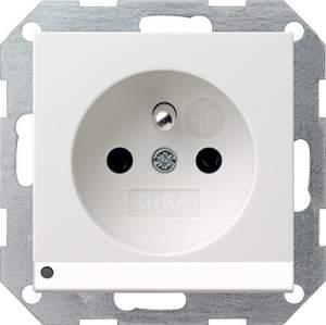 117227 Розетка с зазем штыр защ от дет LED подс
