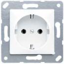 CD121SW CD 500/CD plusЧерный Розетка с/з для установки под откидную крышку, размер 50х50, винт зажим