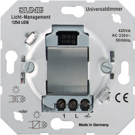 1254UDE Мех Светорегулятор нажимной 50-420 Вт/ВА для л/н, электрон. и обмоточных тр-ров