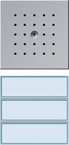 126165 Кнопка домофона с динамиком. трехканальная