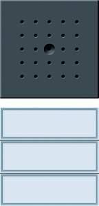 126167 Кнопка домофона с динамиком. трехканальная
