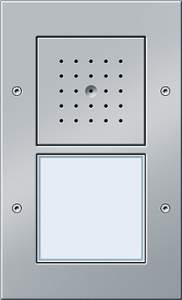 126665 Плоская наружная дверная одноканальная станция