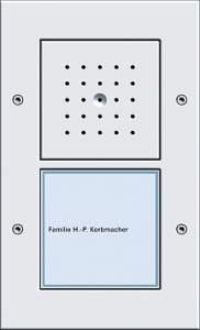 126666 Плоская наружная дверная одноканальная станция