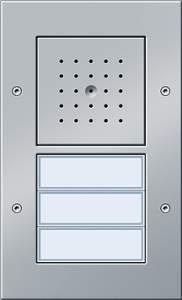 126765 Плоская наружная дверная трехканальная станция