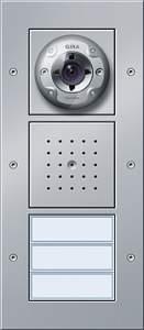 127065 Плоская наружная дверная станция с видеокамерой 3-канальная