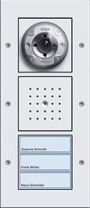 127066 Плоская наружная дверная станция с видеокамерой 3-канальная