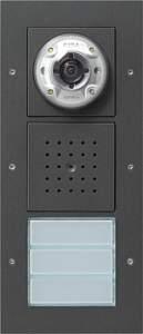 127067 Плоская наружная дверная станция с видеокамерой 3-канальная