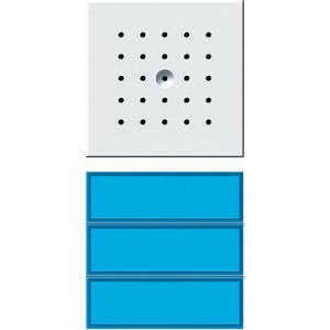 127266 Кнопка домофона с динамиком. трехканальная