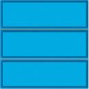 129400 Кнопка вызова тройная с голубой подсветкой