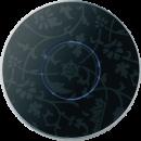 Mona лицевая панель, черный -цветы арт.102-05