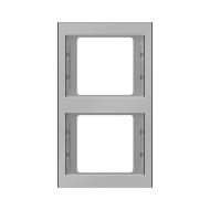 Berker 13237004 K.5 Рамка 2-я, вертикальная сталь серия  купить в Москве, цена в России: опт, розница   smartipad.ru