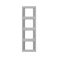 Berker 13437004 K.5 Рамка 4-я, вертикальная сталь серия  купить в Москве, цена в России: опт, розница   smartipad.ru