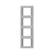Berker 13437004 K.5 Рамка 4-я, вертикальная сталь серия  купить в Москве, цена в России: опт, розница | smartipad.ru