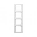 """13437009 Рамка 4-я вертикальная, Цвет:""""белый"""""""