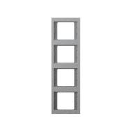 """Berker 13437024 Рамка 4-я вертикальная, Цвет:""""алюминий"""" серия  купить в Москве, цена в России: опт, розница   smartipad.ru"""