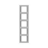Berker 13537004 K.5 Рамка 5-я, вертикальная сталь серия  купить в Москве, цена в России: опт, розница | smartipad.ru