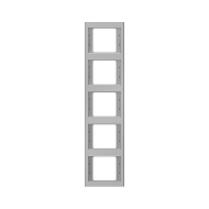 Berker 13537004 K.5 Рамка 5-я, вертикальная сталь серия  купить в Москве, цена в России: опт, розница   smartipad.ru