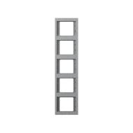 """Berker 13537024 Рамка 5-я вертикальная, Цвет:""""алюминий"""" серия  купить в Москве, цена в России: опт, розница   smartipad.ru"""