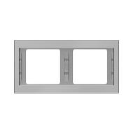Berker 13637004 K.5 Рамка 2-я, горизонтальная сталь серия  купить в Москве, цена в России: опт, розница   smartipad.ru