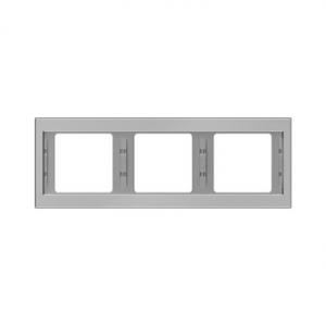 Berker 13737004 K.5 Рамка 3-я, горизонтальная сталь серия  купить в Москве, цена в России: опт, розница   smartipad.ru