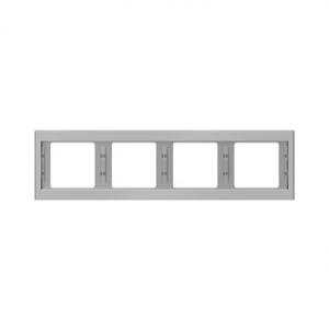 Berker 13837004 K.5 Рамка 4-я, горизонтальная сталь серия  купить в Москве, цена в России: опт, розница | smartipad.ru