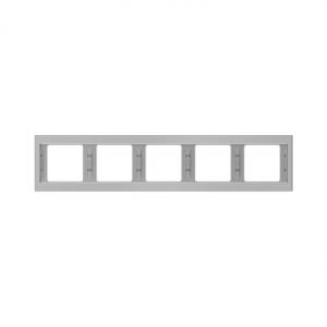 Berker 13937004 K.5 Рамка 5-я, горизонтальная сталь серия  купить в Москве, цена в России: опт, розница | smartipad.ru