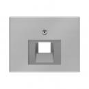 """140770041144.0008.2 Розетка компьютерная 1-я, экранированная 5-й категории, Цвет:""""сталь"""""""