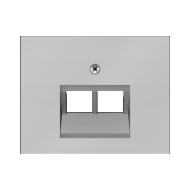 """Berker 140970041162.0008.8 Розетка компьютерная 2-я, экранированная 5-й категории, Цвет:""""сталь"""" серия  купить в Москве, цена в Р"""