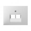 """140970091162.0008.8 Розетка компьютерная 2-я, экранированная 5-й категории, Цвет:""""белый"""""""