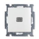 1413-0-1081 (2026 UCN-94) BJB Basic 55 Бел Выключатель кнопочный 1-клавишный, с линзой, без лампы, НО контакт