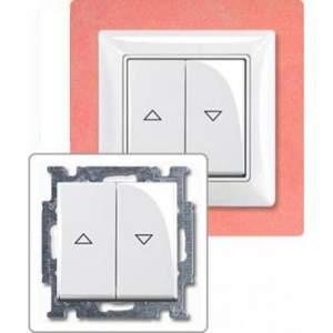 1413-0-1082 (2026/4 UC-94) BJB Basic 55 Бел Выключатель жалюзийный кнопочный