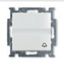 1413-0-1086 (2026 UCN/KL-94) BJB Basic 55 Бел Выключатель кнопочный с полем для надписи