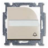 1413-0-1087 (2026 UCN/KL-92) BJB Basic 55 Беж Выключатель кнопочный с полем для надписи