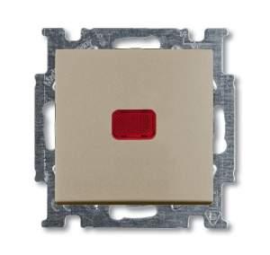 1413-0-1092 (2026 UCN-93) BJB Basic 55 Шамп Выключатель кнопочный 1-клавишный, с линзой, без лампы, НО контакт