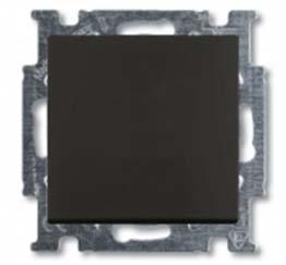 1413-0-1097 (2026 UCN/KL-95) BJB Basic 55 Шато (чёрн) Выключатель кнопочный с полем для надписи