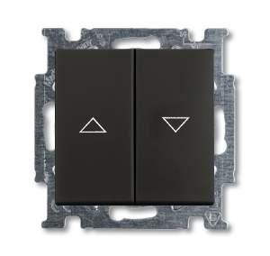 1413-0-1098 (2026/4 UC-95) BJB Basic 55 Шато (чёрн) Выключатель жалюзийный кнопочный