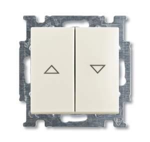 1413-0-1101 (2026 UCN/KL-96) BJB Basic 55 Шале (бел) Выключатель кнопочный с полем для надписи
